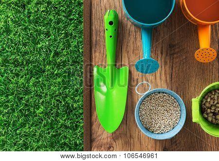 Gardener's Colorful Equipment