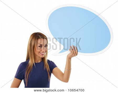 Woman With Think Balloon
