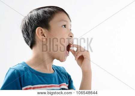 Boy And Medicine Tablet