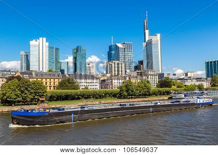 Financial District In Frankfurt