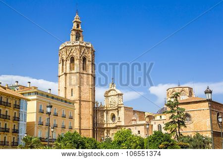 Bell Tower  In Valencia, Spain