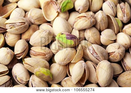 Pistachios fruit background