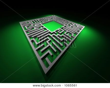 Labyrinth Path. Abstract Maze