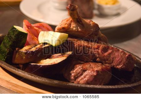Roasted Meat And Zucchini