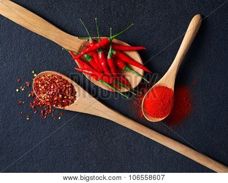 Chilli, Red Pepper Flakes And Chilli Powder