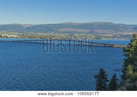 Okanagan Lake Bridge Kelowna Bc Canada