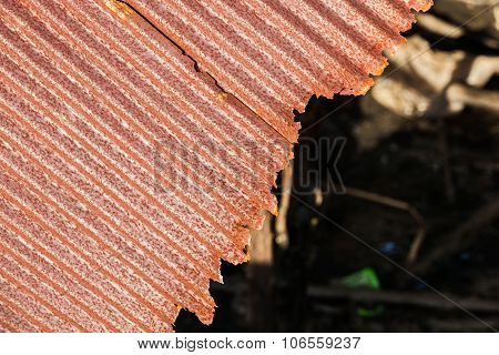 Rusty Old Corrugated Iron