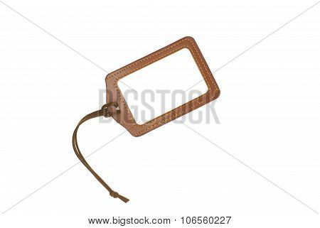 Leather Luggage Tags Label