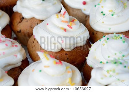 Flans With Whipped Cream