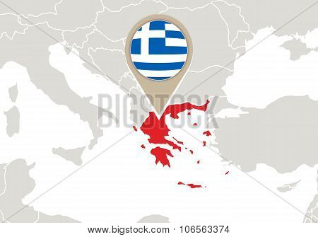 Greece On Europe Map