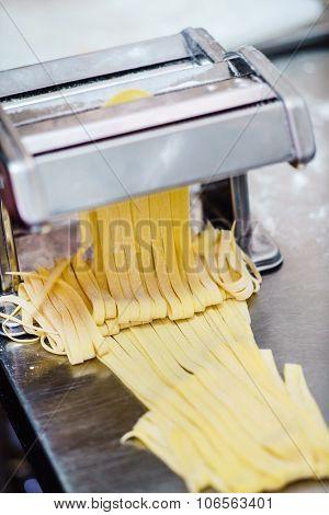 chef making pasta