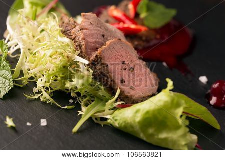 Roasted Beef With Fresh Salad