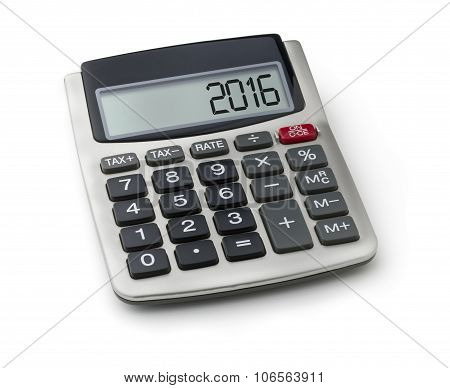Calculator With The Word 2016 On The Display