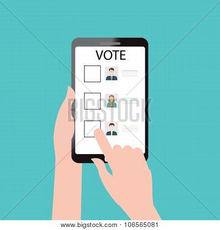 Vote Online Design.
