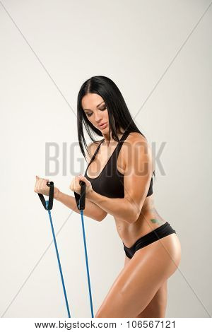 Beautiful fitness model