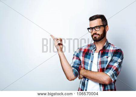 Concept for young stylish man on white background