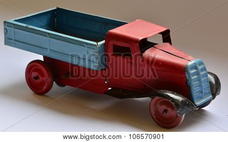 Isolated truck (lorry) toy on white background