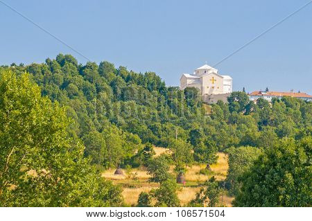 White Church On The Hill, Church Of Croatian Martyrs In Udbina, Croatia