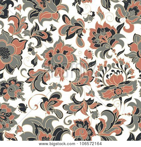 floral seamless pattern in barocco style.