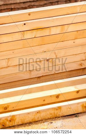 Construction Of New Wooden House