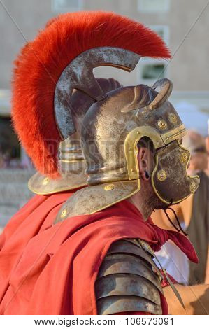Roman Soldiers In A Costume