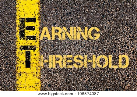 Business Acronym Et As Earning Threshold