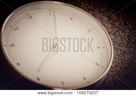 Artistic Vintage Simple Clock With Selective Focus