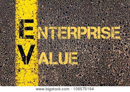 Business Acronym Ev As Enterprise Value