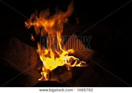 Fire At A Beach