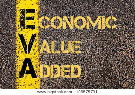 Business Acronym Eva As Economic Value Added