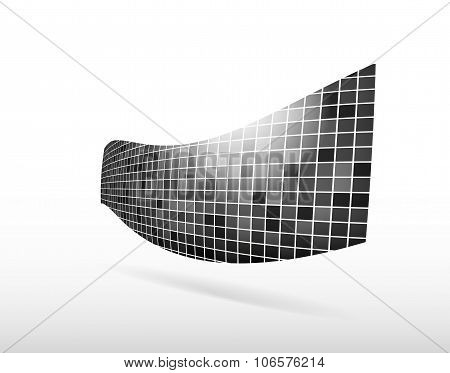 Abstract Object Of Squares With Shadow