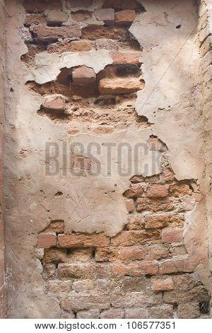 Old Brick Wall: Texture Of Vintage Brickwork