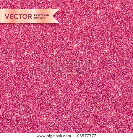 Pink glitter texture vector seamless pattern