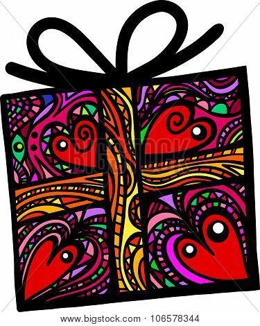 Folk Art Gift Box