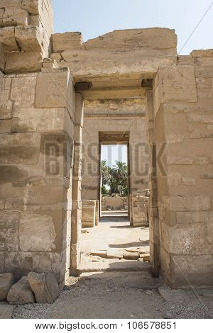 Entrance To The Temple At Medinat Habu
