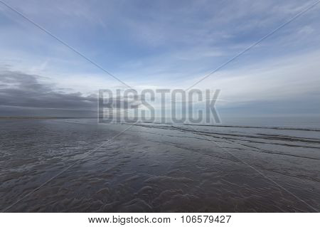 A wide angle seascape vista in Scotland