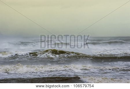 A rough sea scape vista in Scotland