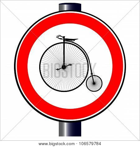 Penny Farthing Traffic Sign