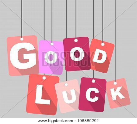 vector background -  tag good luck