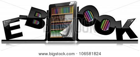 E-book - Bookends And Tablet Pc