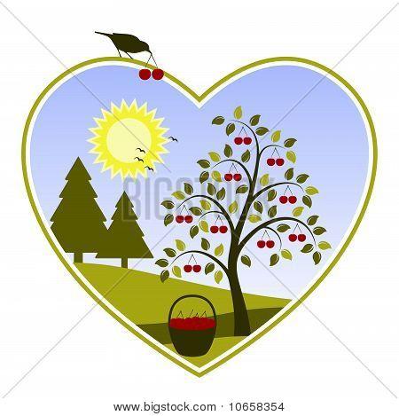 Cherry Tree In Heart