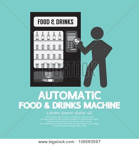 Automatic Food Machine Symbol.