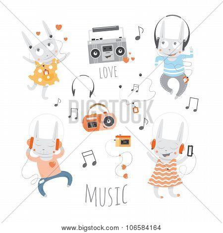 Cartoon Musical Set.