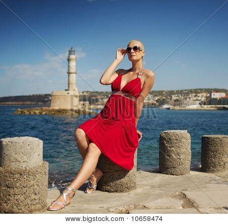 Bild von eine attraktive Frau outdoors