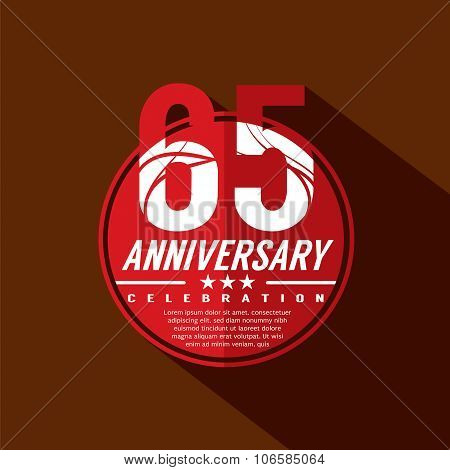 65 Years Anniversary Celebration Design.