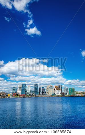 Skyline of modern business district in Oslo, Norway, Scandinavia