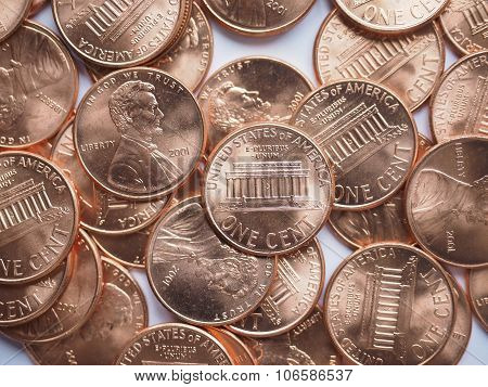 Penny Coins Background