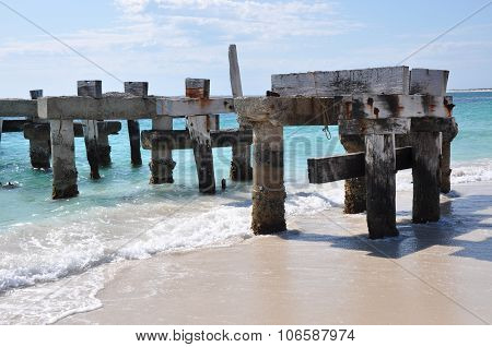 Abandoned Jetty on the Indian Ocean Coastline