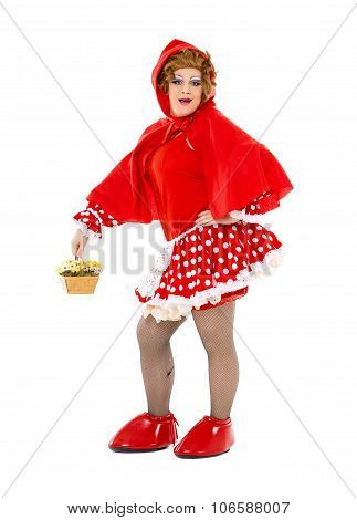 Actor Drag Queen Dressed As Little Red Riding Hood