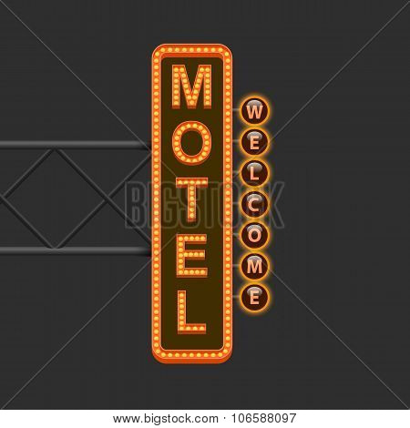 Street sign of the motel